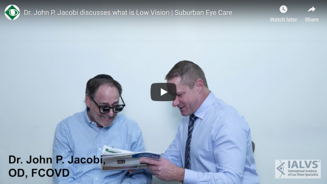 Screenshot 2019 03 22 Dr John P Jacobi discusses what is Low Vision Suburban Eye Care   YouTube